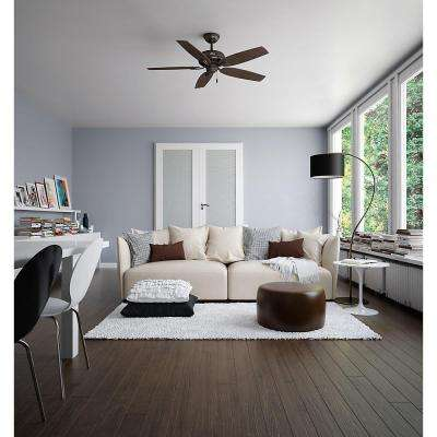 Newsome 52 in. Indoor Premier Bronze Ceiling Fan