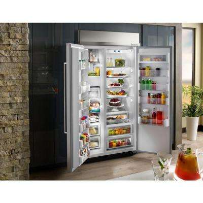 25.5 cu. ft. Built-In Side by Side Refrigerator in Panel Ready