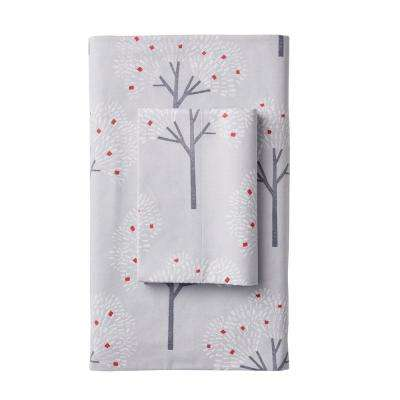 Snow Forest Flannel Flat Sheet