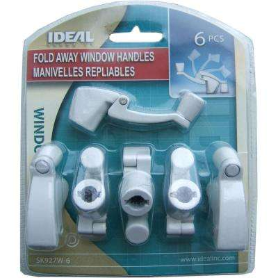 Fold Away Window Crank Handles in White (6-Pack)