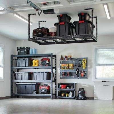 42 in. H x 96 in. W x 32 in. D Adjustable Height Ceiling Mount Garage Rack
