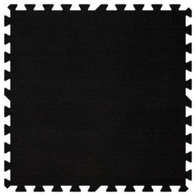 Black 24 in. x 24 in. Comfortable Mat (100 sq.ft. / Case)