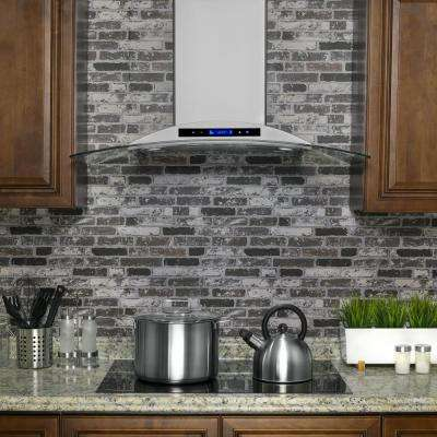 36 in. Convertible Kitchen Wall Mount Range Hood in Stainless Steel with Tempered Glass and Touch Controls