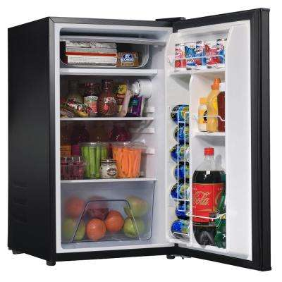 3.5 cu. ft. Mini Fridge Single Door Only in Stainless Steel Look