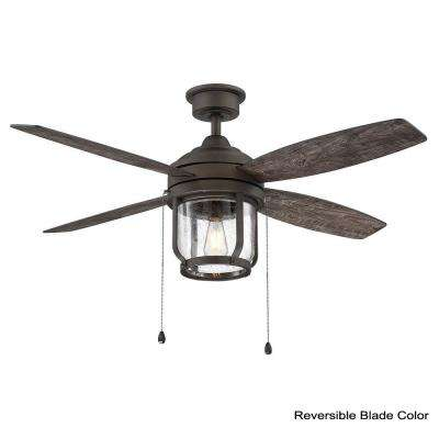 Northampton 52 in. LED Indoor/Outdoor Espresso Bronze Ceiling Fan with Light