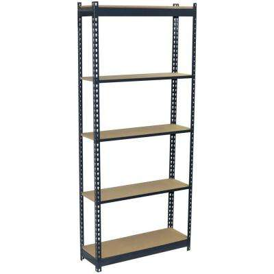 72 in. H x 36 in. W x 18 in. D 5-Shelf Steel Boltless Shelving Unit with Low Profile Shelves and Particle Board Decking