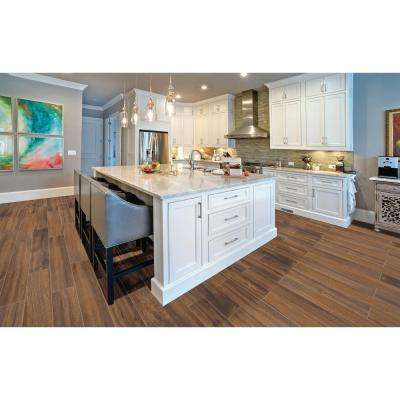 Arbor Walnut 6 in. x 36 in. Porcelain Floor and Wall Tile (15 sq. ft. / case)