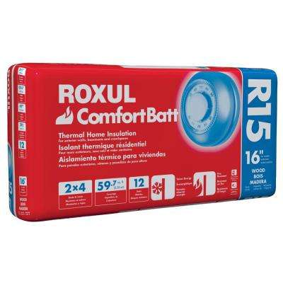ComfortBatt 3-1/2 in. x 15-1/4 in. x 47 in. R-15 Fire Resistant Stone Wool Insulation (12-Bags)
