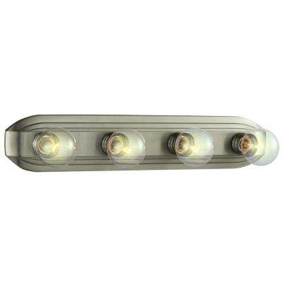 4-Light Brushed Nickel Bath Bar Light