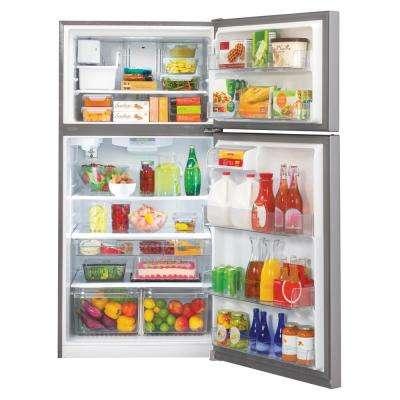 23.80 cu. ft. Top Freezer Refrigerator with Reversible Door, Internal Water Dispenser and Ice Maker in Stainless Steel