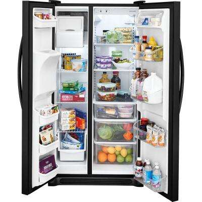 22.1 cu. ft. Side by Side Refrigerator in Black