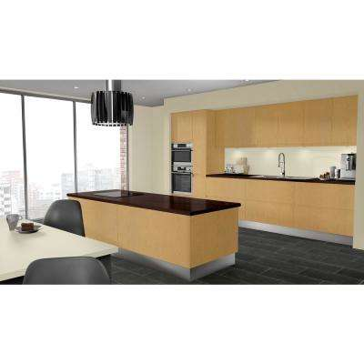 3 in. x 5 in. Laminate Countertop Sample in Empire Mahogany with Premium Textured Gloss Finish