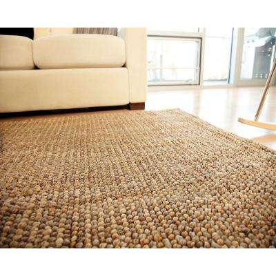 Mira Tan and Silver Grey 5 ft. x 8 ft. Jute Area Rug