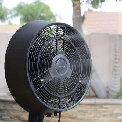 Premium Powerful 18 in. 3-Speed Oscillating Outdoor Misting Fan for Cool Down 500 sq. ft. of Patio Backyard - Black