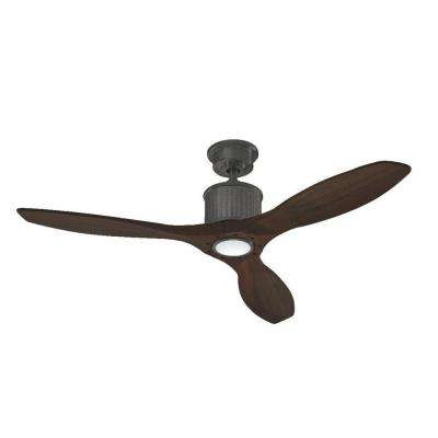 Reagan II 52 in. LED Natural Iron Ceiling Fan
