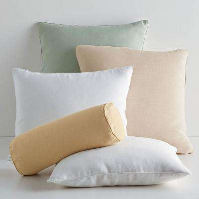 Linen Decorative Small Boudoir Pillow Cover (12 in. x 16 in.)