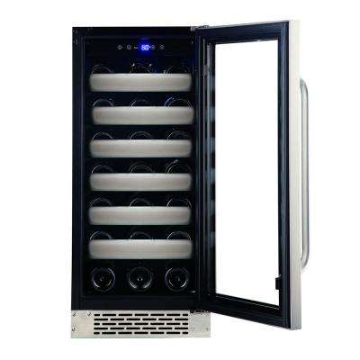 Elite 33-Bottle Seamless Stainless Steel Door Single Zone Built-In Wine Refrigerator
