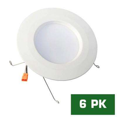 5 in. / 6 in. White Recessed Housing LED Trim Bright Standard Retrofit Ceiling Light with 93 CRI (6-Pack)