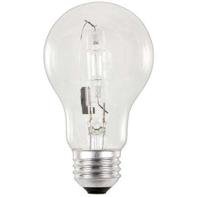 53-Watt Eco-Halogen A19 Clear Medium Base Light Bulb (2-Pack)