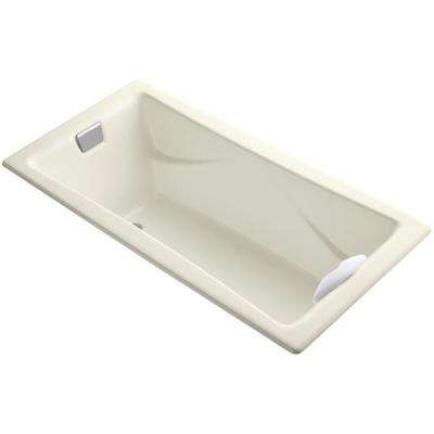 Tea-for-Two 6 ft. Reversible Drain Bathtub in Biscuit