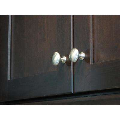 1.25 in. Satin Nickel Round Cabinet Knob (Pack of 25)