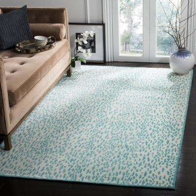 Marbella Ivory/Turquoise 2 ft. 3 in. x 4 ft. Area Rug