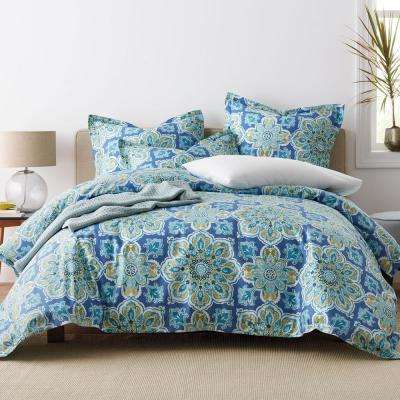 Quinlan Medallion Wrinkle-Free Sateen Duvet Cover