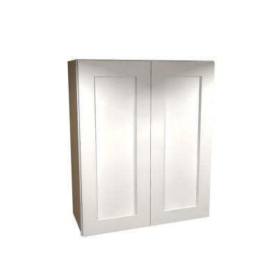 24x36x12 in. Newport Assembled Wall Double Doors Cabinet in Pacific White