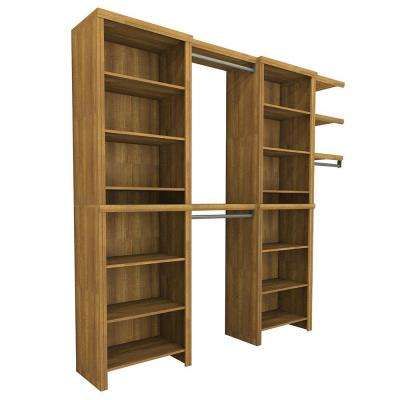Impressions 84.07 in. H x 168 in. W x 27.56 in. D 7-Piece Entry Closet in Walnut