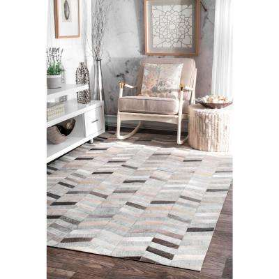 Cowhide Mitch Silver 9 ft. x 12 ft. Area Rug
