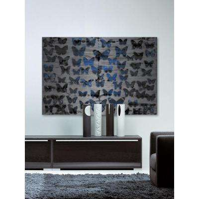 "24 in. H x 36 in. W ""Flutter Byes"" by Parvez Taj Printed Brushed Aluminum Wall Art"