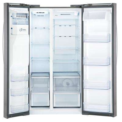 21.9 cu. ft. Built-in Side-by-Side Refrigerator in Stainless Steel, Counter Depth