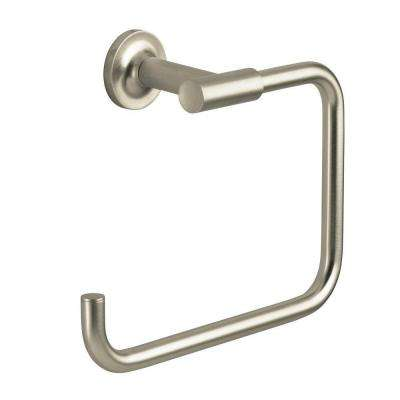 Purist Towel Ring in Vibrant Brushed Nickel