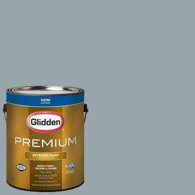1-gal. #HDGCN24D Wintery Grey Satin Latex Exterior Paint