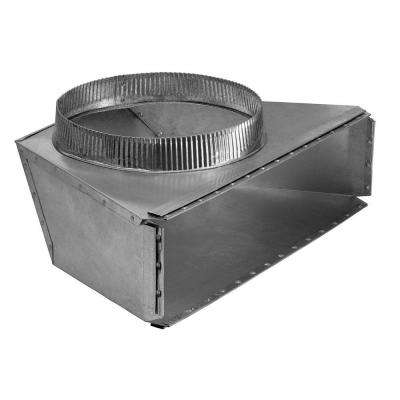 4-1/2 in. x 18-1/2 in. to 10 in. Round Galvanized Steel Rear Duct Transition