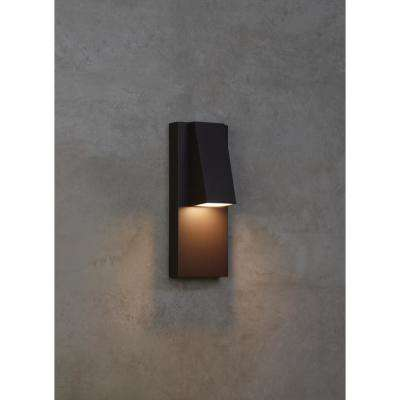 Peak 1-Light Bronze Outdoor 13 in. Integrated LED Wall Mount Sconce