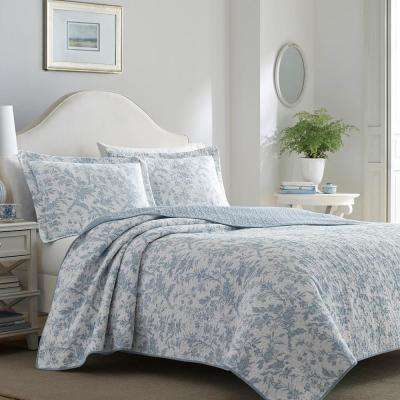 Amberley Floral Cotton Quilt Set