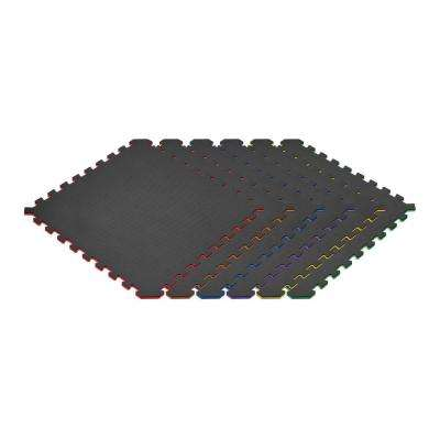 Rainbow Pack/Black 24 in. x 24 in. EVA Foam Truly Reversible Interlocking Tile (18-Tile)