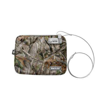Locking Water-Resistant Field Pouch with Tether, Large, Camo