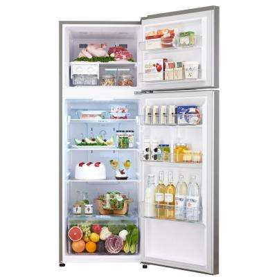 11.1 cu. ft. Top Freezer Refrigerator in Platinum Silver, Counter Depth