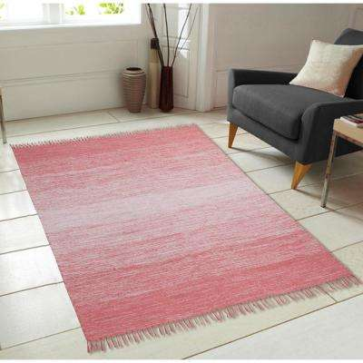 Cotton Ombre Coral 7 ft. x 9 ft. Area Rug