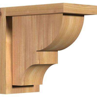 5-1/2 in. x 10 in. x 10 in. Western Red Cedar Ridgewood Smooth Corbel with Backplate