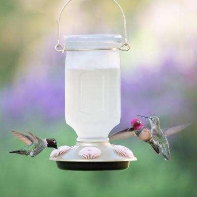 Sun-Kissed Top-Fill Decorative Glass Hummingbird Feeder - 22 oz. Capacity