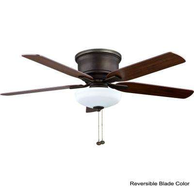 Holly Springs Low Profile 52 in. LED Indoor Oil-Rubbed Bronze Ceiling Fan with Light Kit