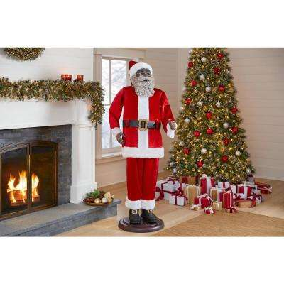 72 in. Animated Dancing Ethnic Santa with Seasonal Music