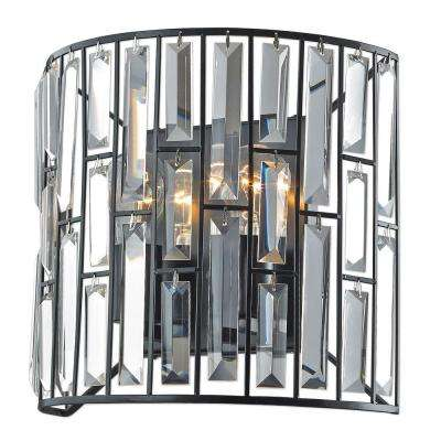 Tomas 2-Light Black Wall Sconce