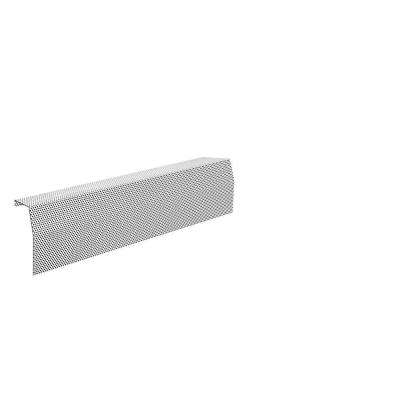 Premium Series 2 ft. Galvanized Steel Easy Slip-On Baseboard Heater Cover in White