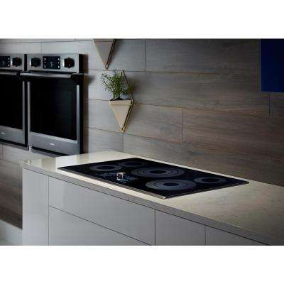 36 in. Radiant Electric Cooktop in Fingerprint Resistant Black Stainless with 5 Elements, Rapid Boil and WiFi