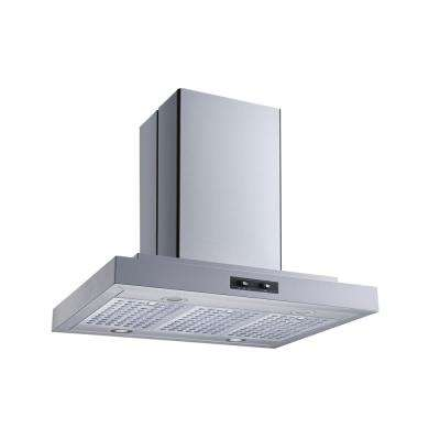 36 in. Convertible Island Mount Range Hood in Stainless Steel with Stainless Steel Baffle Filters and LED Lights
