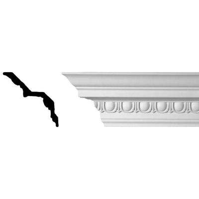 5-1/4 in. x 5-1/2 in. x 94-1/2 in. Egg and Dart Polyurethane Crown Moulding